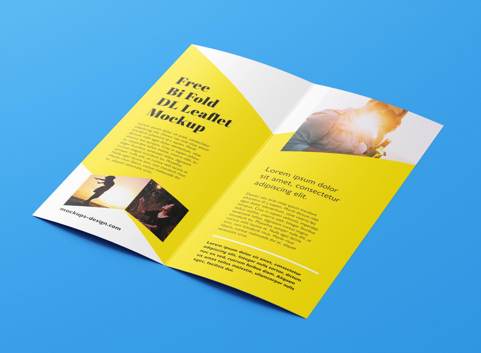 Free Bi-Fold Leaflet / Brochure Mockup PSD Set - Good Mockups