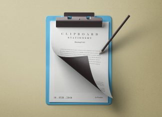 Free-Page-Curl-Clipboard-Mockup-PSD