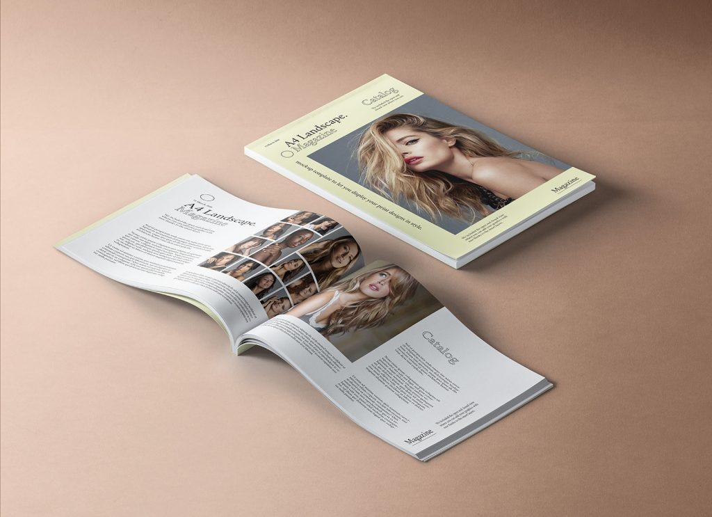 Free Premium A4 Landscape Magazine Mockup Psd Good Mockups