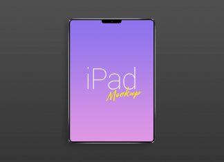 Free Apple iPad Pro (2018) Mockup PSD