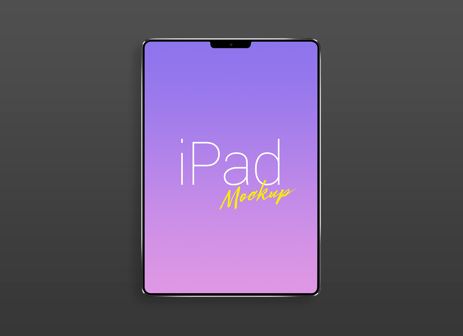 Free Apple iPad Pro (2018) Mockup PSD