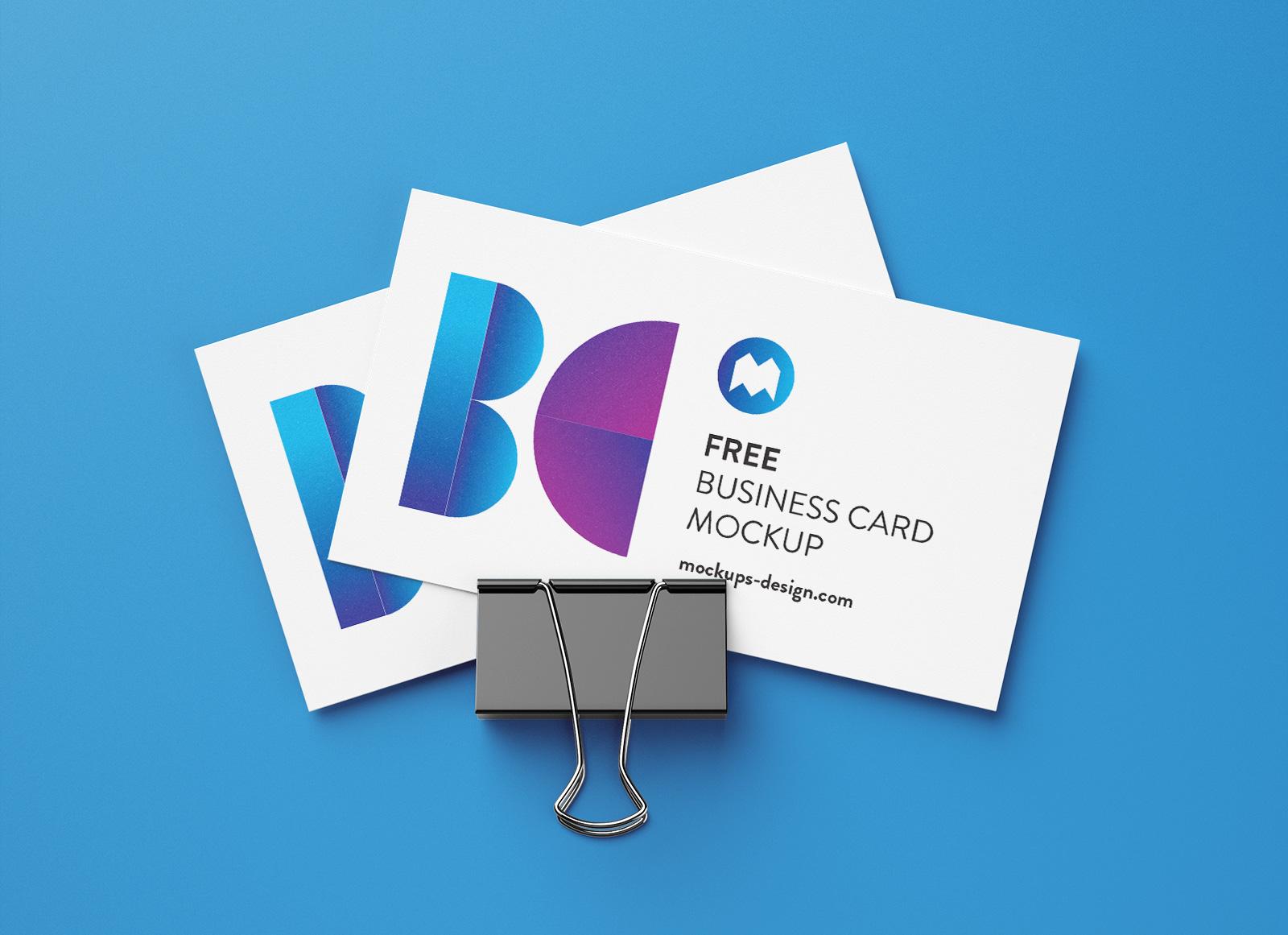 Free-Binder-Clip-Business-Card-Mockup-PSD-Set-3