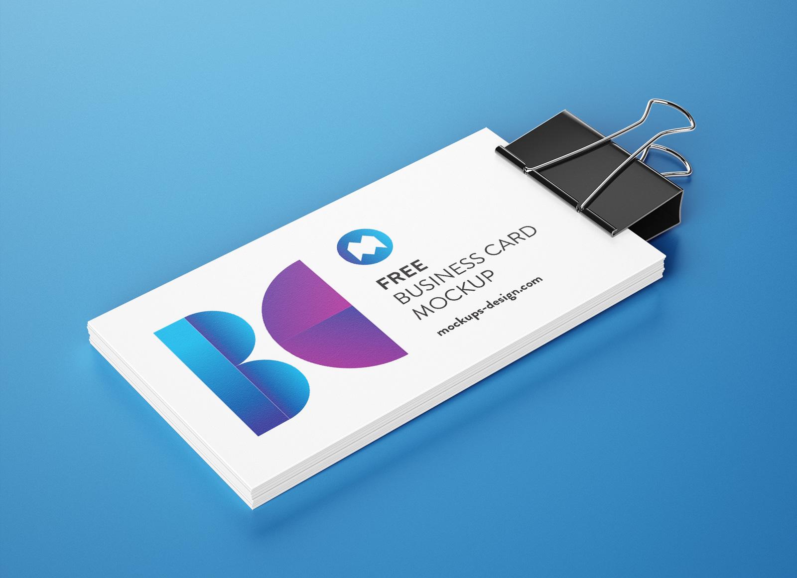 Free-Binder-Clip-Business-Card-Mockup-PSD-Set