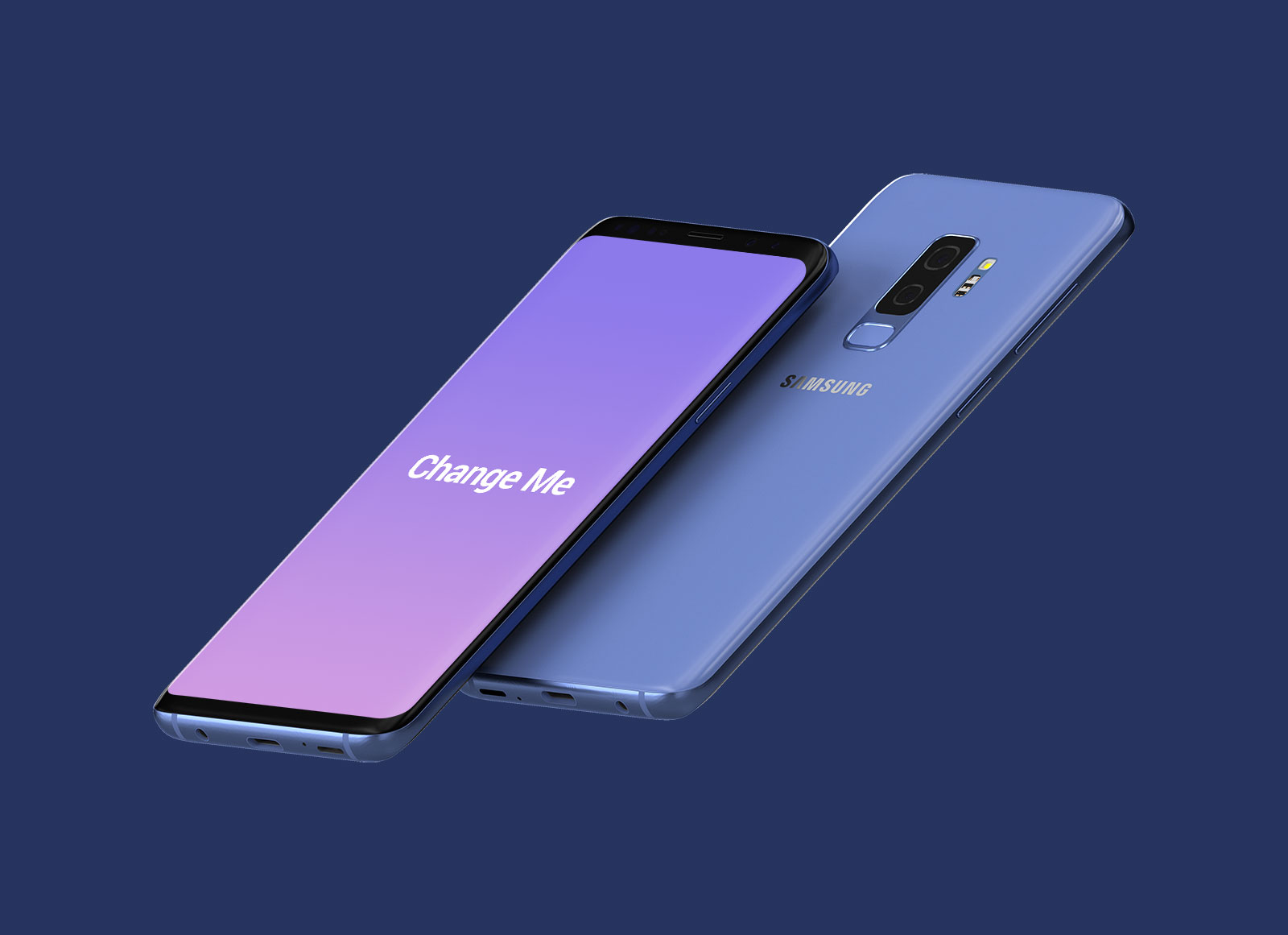 Free Floating Samsung Galaxy S9 Plus Mockup PSD