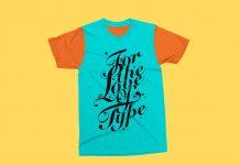 Free-Fully-Customizable-Half-Sleeves-T-Shirt-Mockup-PSD