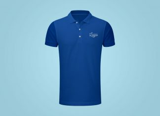 Free Fully Customizable Polo T-Shirt Mockup PSD