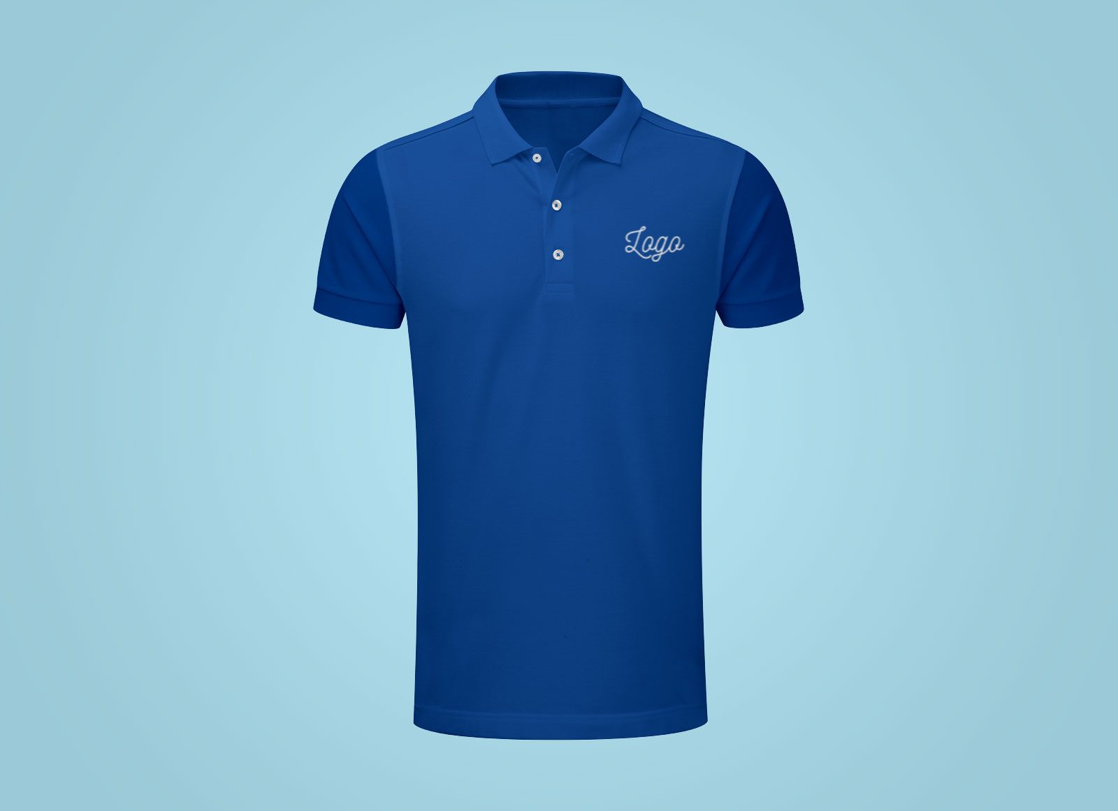 Free fully customizable half sleeves polo t shirt mockup for Free polo shirt mockup