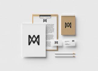 Free Modern Brand Identity Stationery Mockup PSD