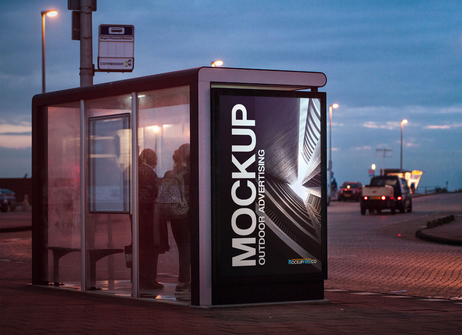 Free-Outdoor-Advertising-Bus-Shelter-Mockup-PSD