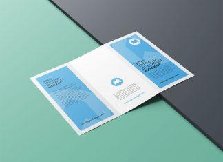 Free Premium Tri-Fold Brochure Mockup PSD Set (1)