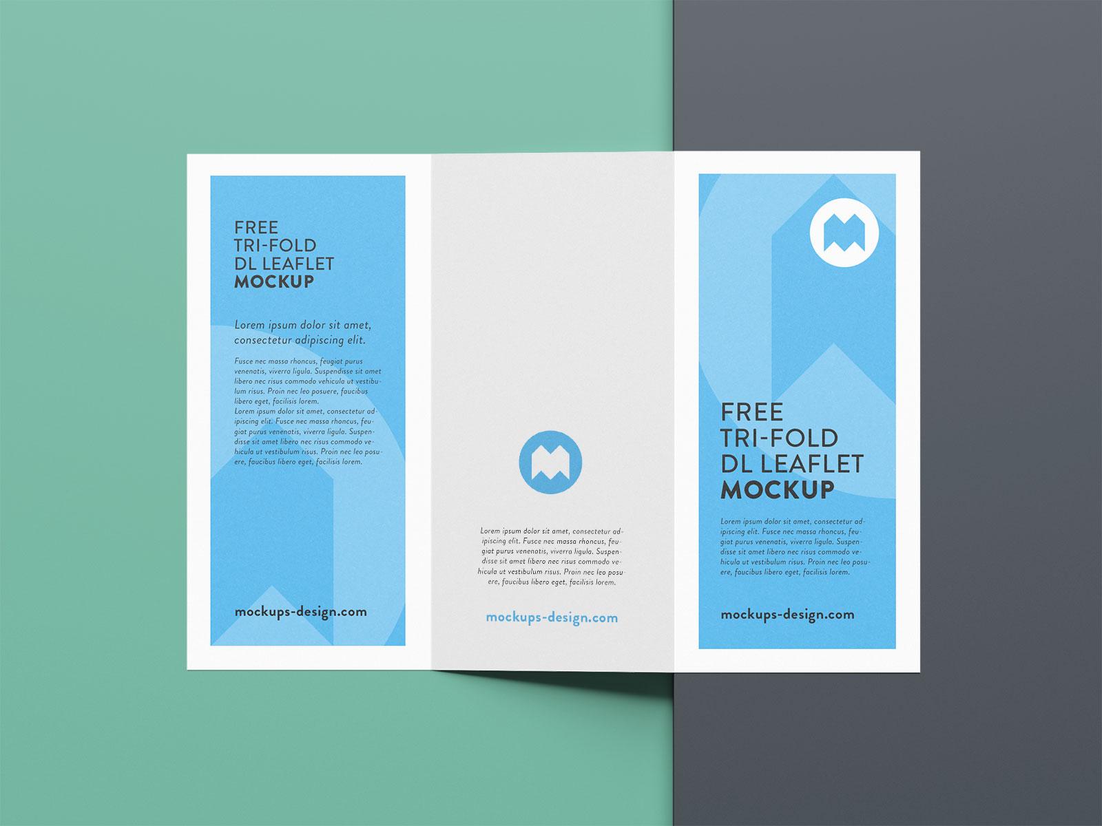 Free Premium Tri-Fold Brochure Mockup PSD Set (2)