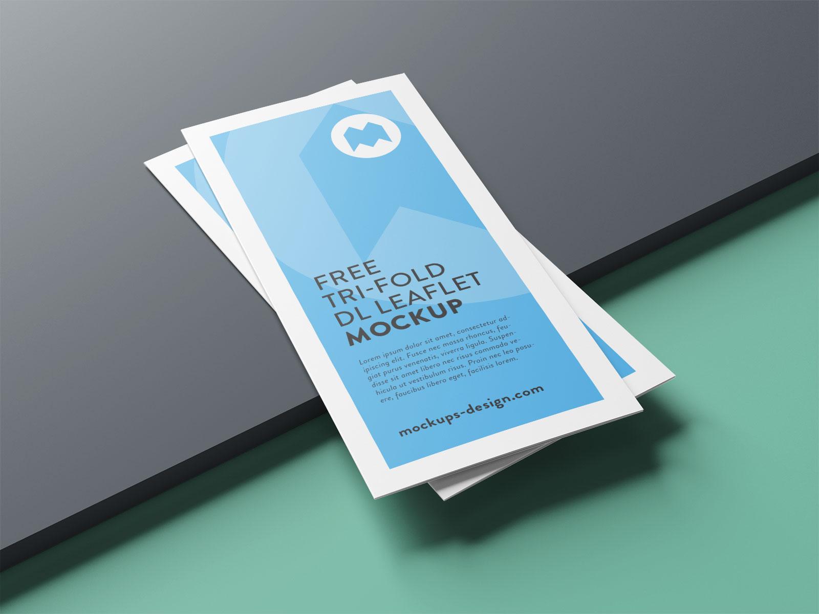 Free Premium Tri-Fold Brochure Mockup PSD Set (3)