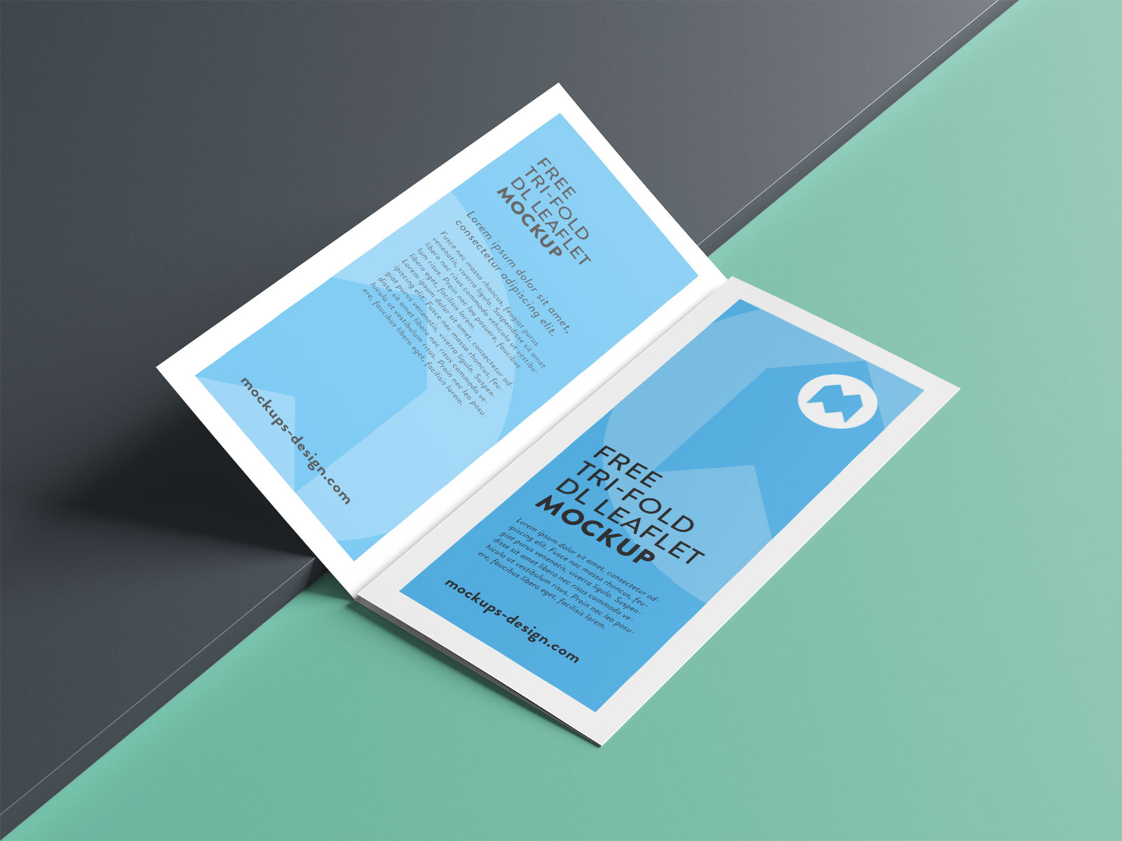 Free Premium Tri-Fold Brochure Mockup PSD Set (4)