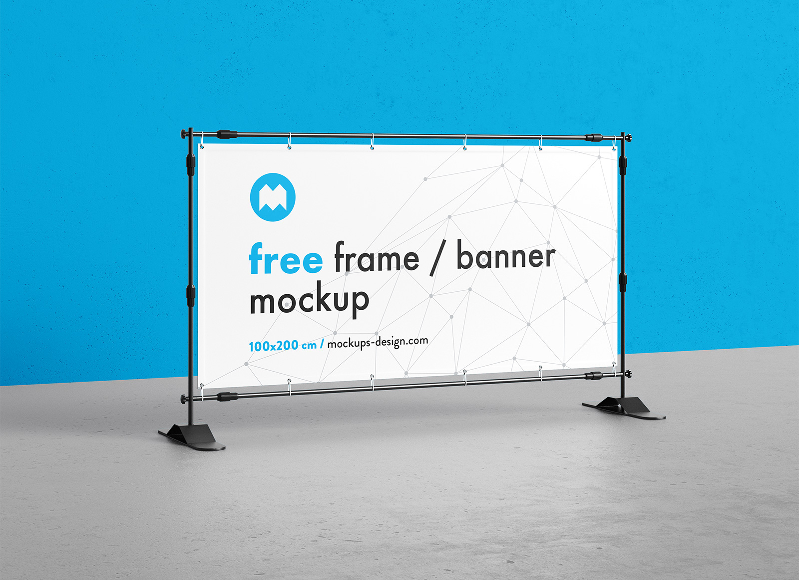 Free Rectangle Frame Standing Banner Mockup Psd Good Mockups