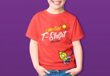 Free-Little-Girl-Kids-T-Shirt-Mockup-PSD