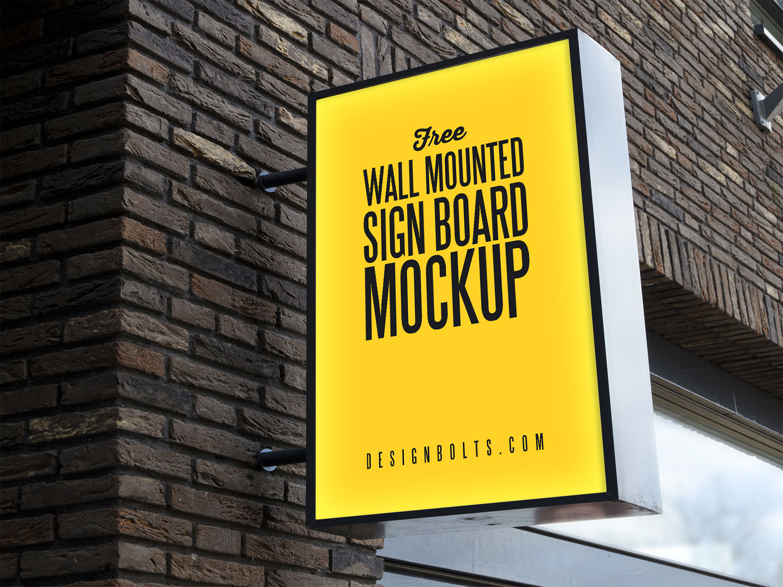 Free-Outdoor-Advertising-Wall-Mounted-Sign-Board-Mockup-PSD-2