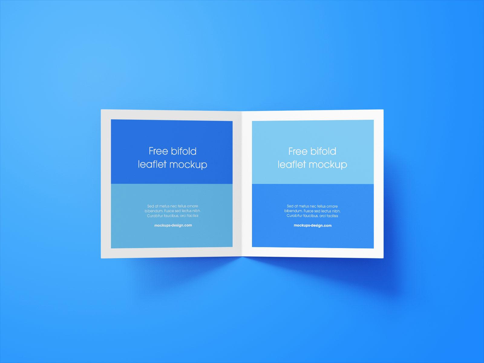 Free Square Bi-Fold Brochure Mockup PSD Set (8)