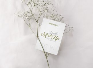 Free Wedding Invitation Card Mockup PSD Set (2)