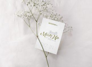Free Wedding Invitation Card Mockup PSD Set (2)