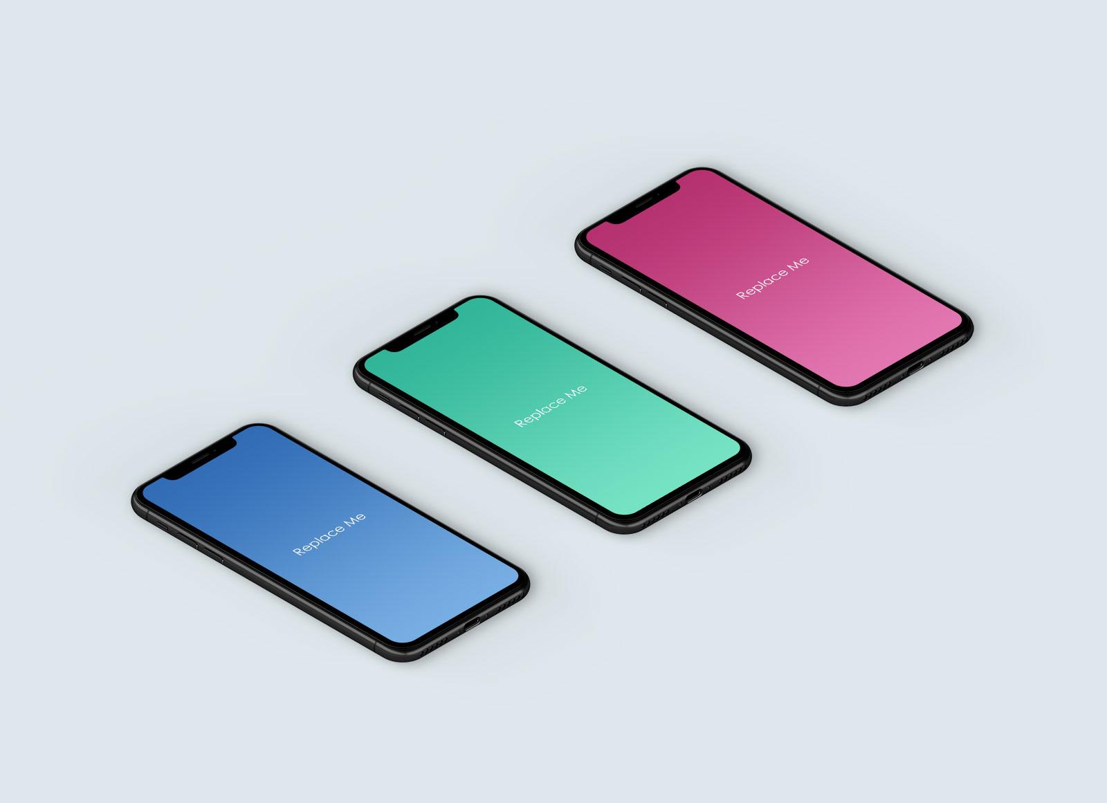 Free-iPhone-X-App-Display-Mockup-PSD