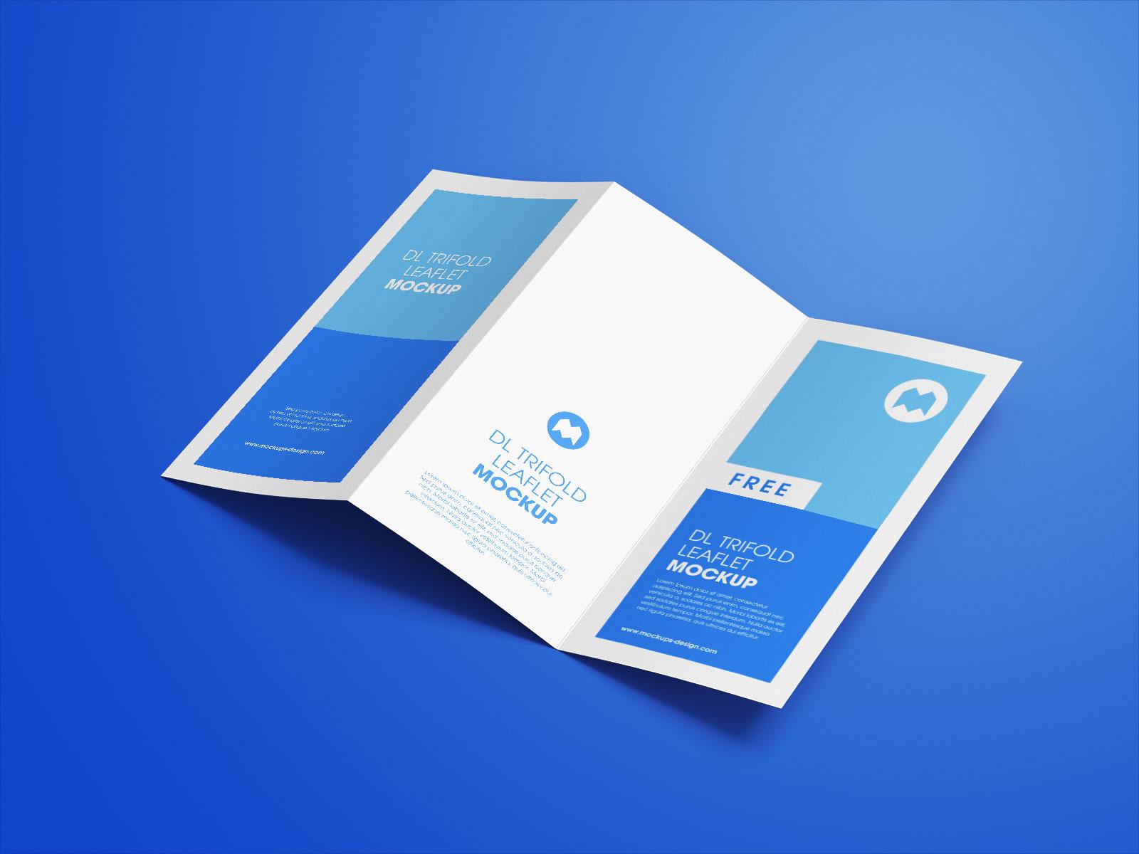 Free 3-Fold Tri-Fold Brochure Mockup PSD Set (1)