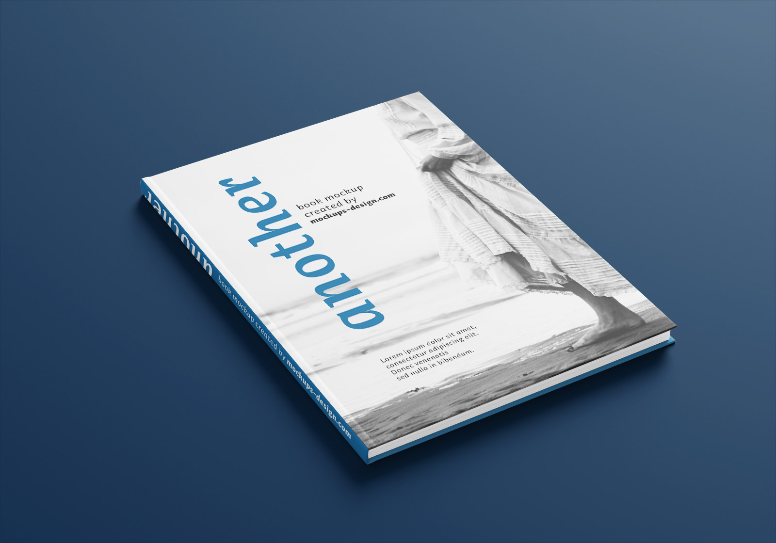 Free A4 Hardcover Magazine Book Mockup PSD Set (1)