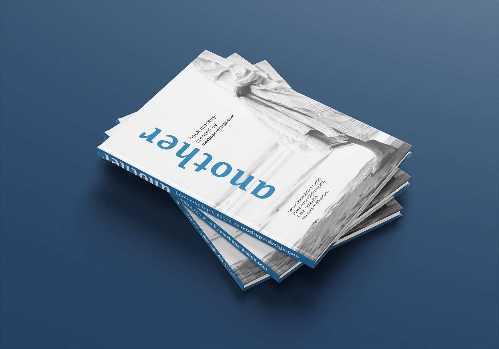 Free A4 Hardcover Magazine Book Mockup PSD Set (2)