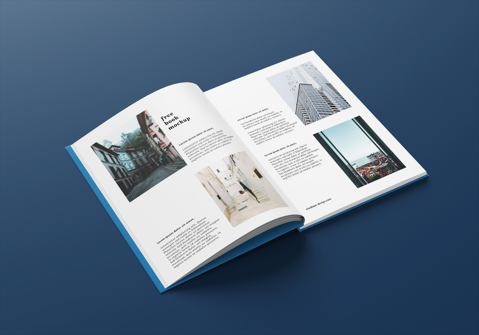 Free A4 Hardcover Magazine Book Mockup PSD Set (4)