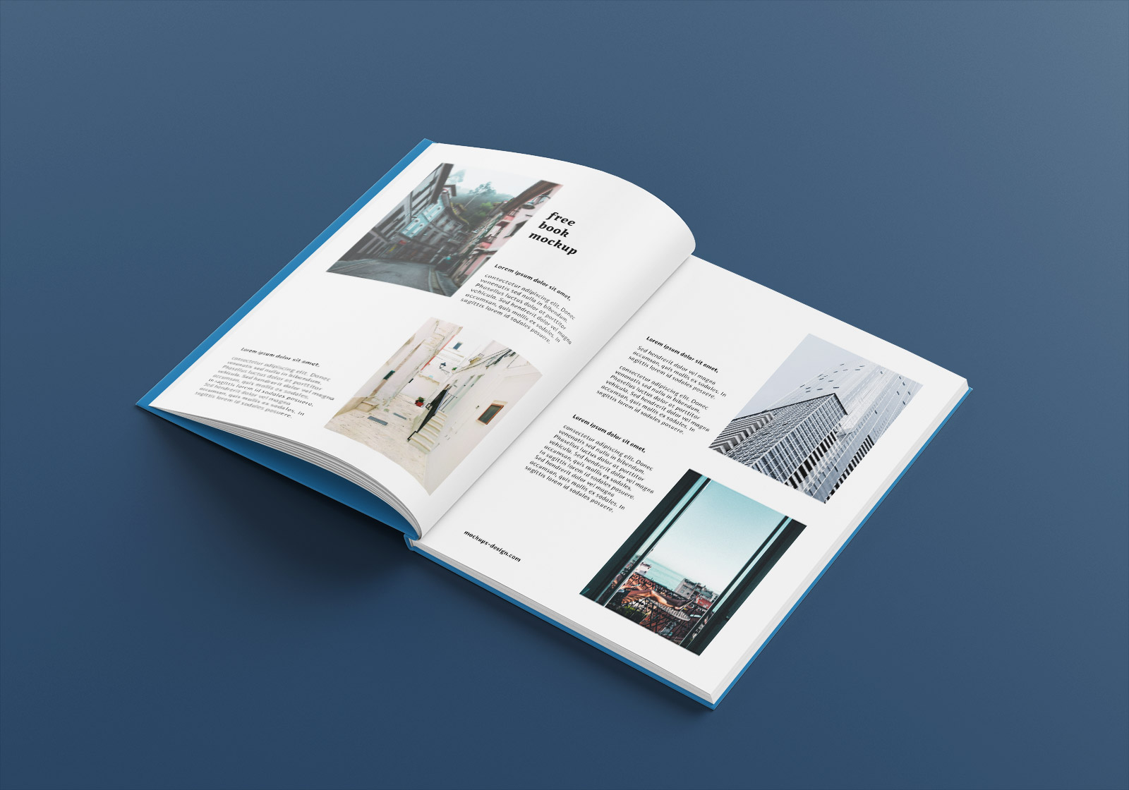 Free A4 Hardcover Magazine Book Mockup PSD Set (5)