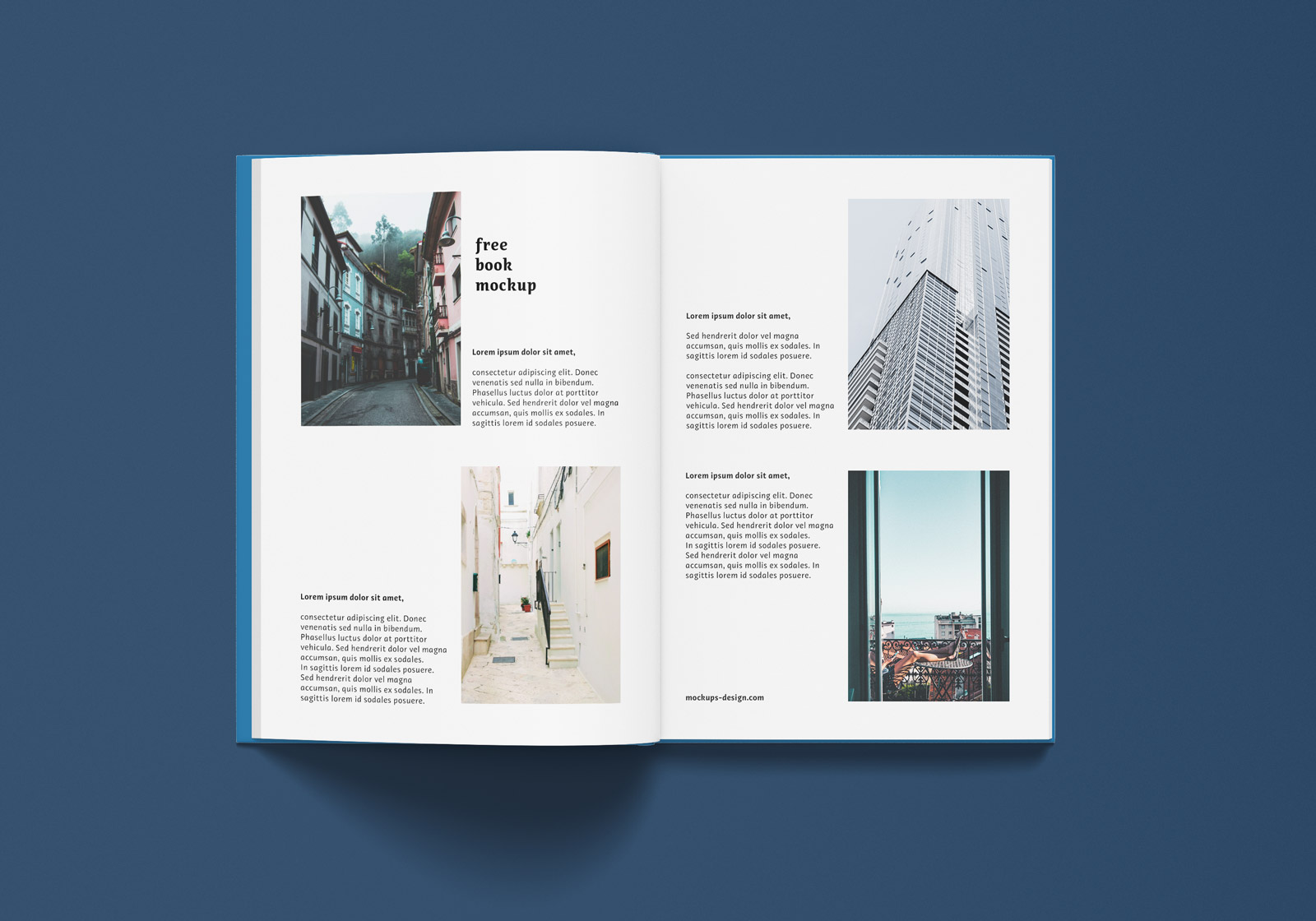 Free A4 Hardcover Magazine Book Mockup PSD Set (6)