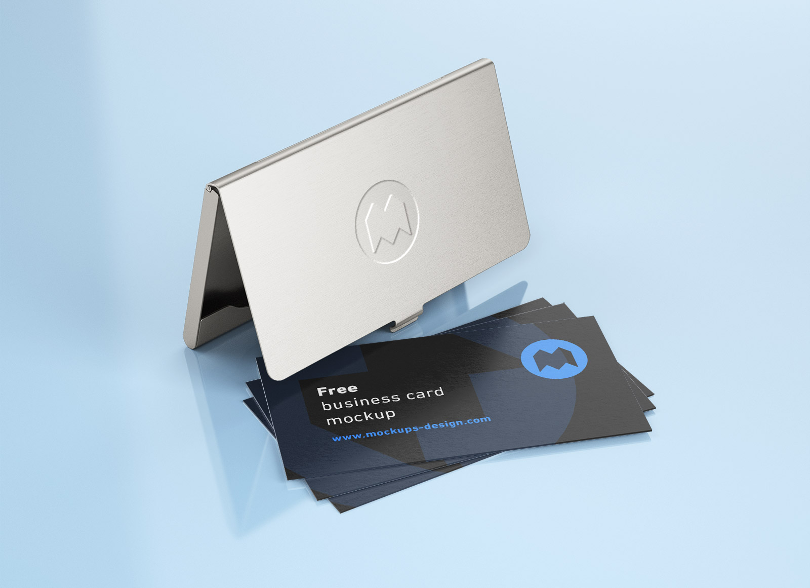 Free-Business-Card-with-Holder-Mockup-PSD-Set