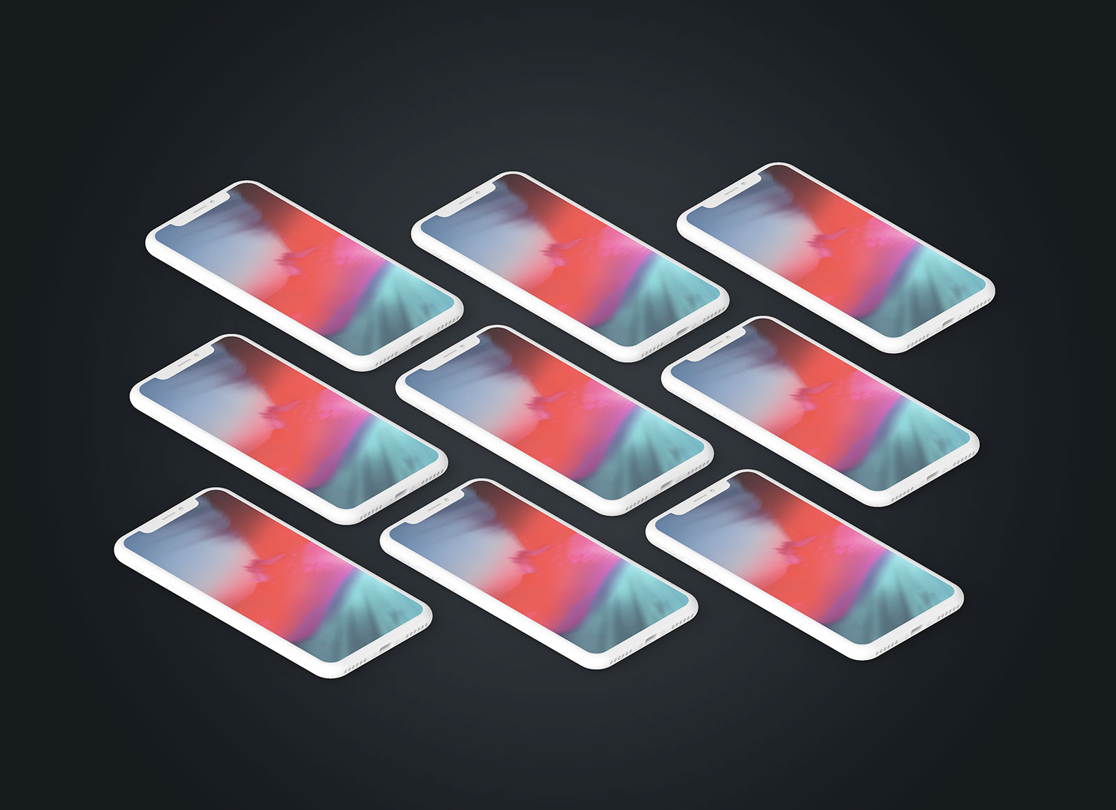 Free Clay iPhone X Mockup Presentation Set