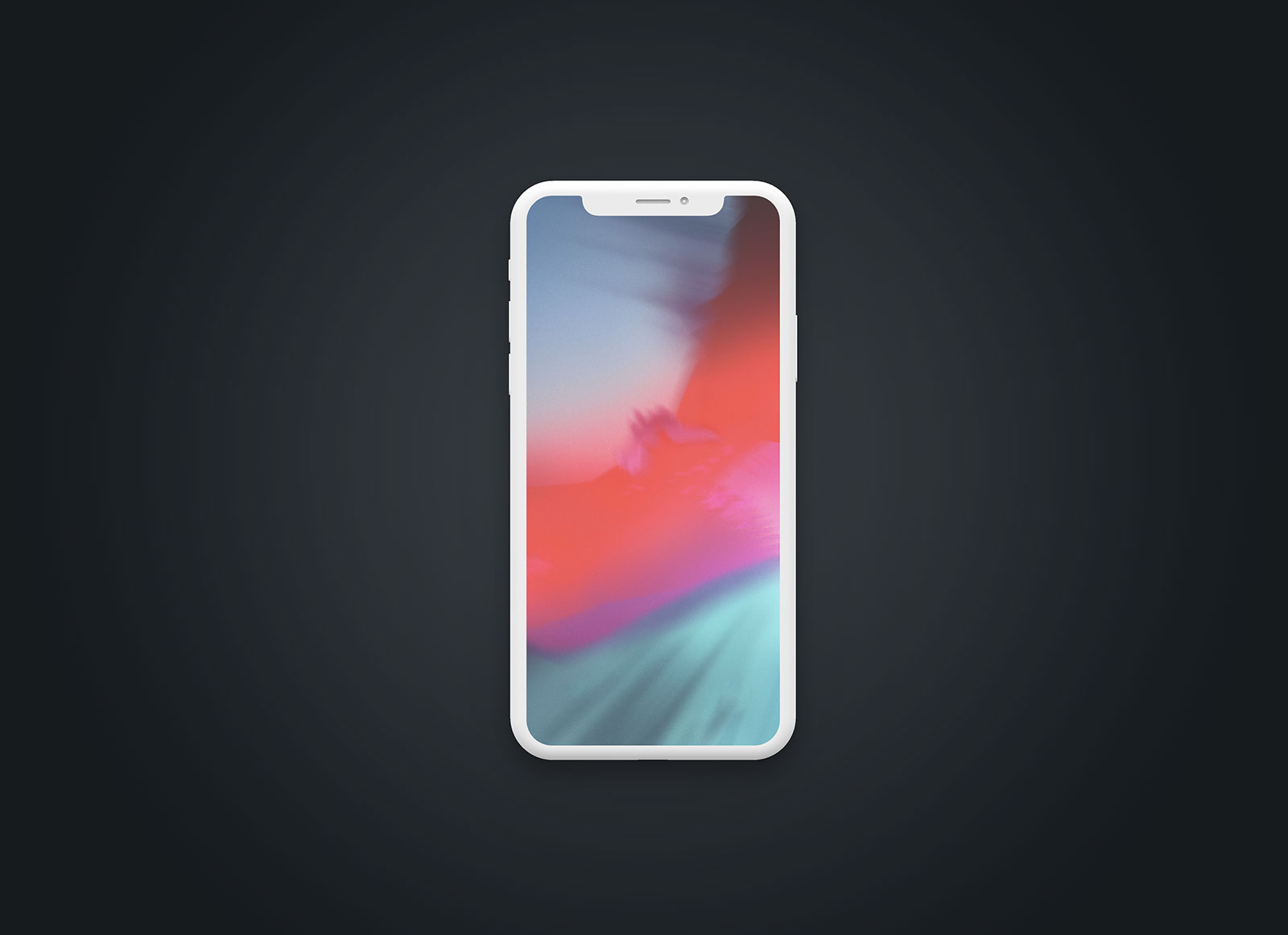 Free Clay iPhone X Mockup Presentation Set