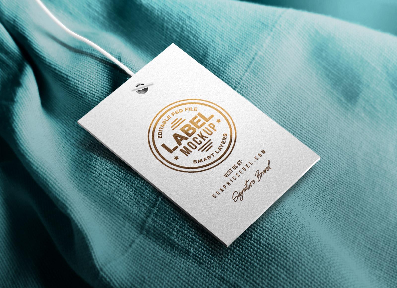 Free Clothing Hang Tag Mockup Psd Good Mockups