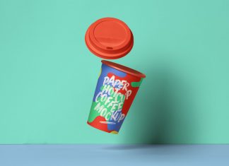 Free-Floating-Paper-Coffee-Cup-Mockup-PSD