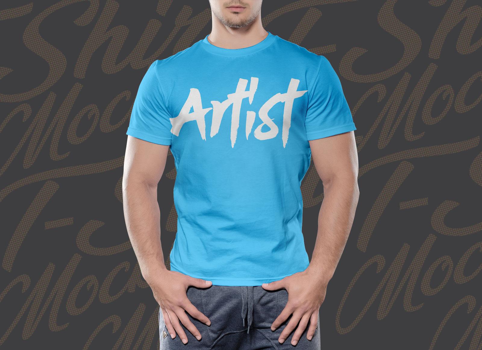 Free-Half-Sleeves-T-shirt-Mockup-PSD-2