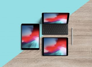 Free-Multiple-Screens-Top-View-iPad-Pro-10-5-inch-Mockup-PSD