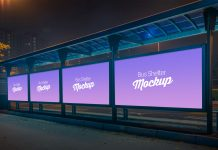 Free-Outdoor-Advertising-Bus-Shelter-Billboard-Mockup-PSD-2