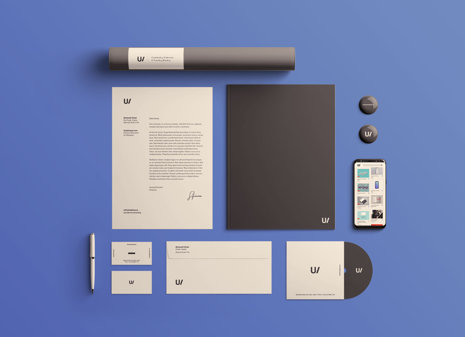 Free Professional Premium Corporate Identity Mockup PSD Set (2)