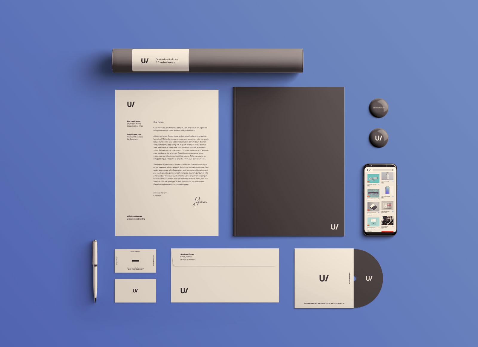 Free Professional Premium Corporate Identity Mockup PSD Set (2)