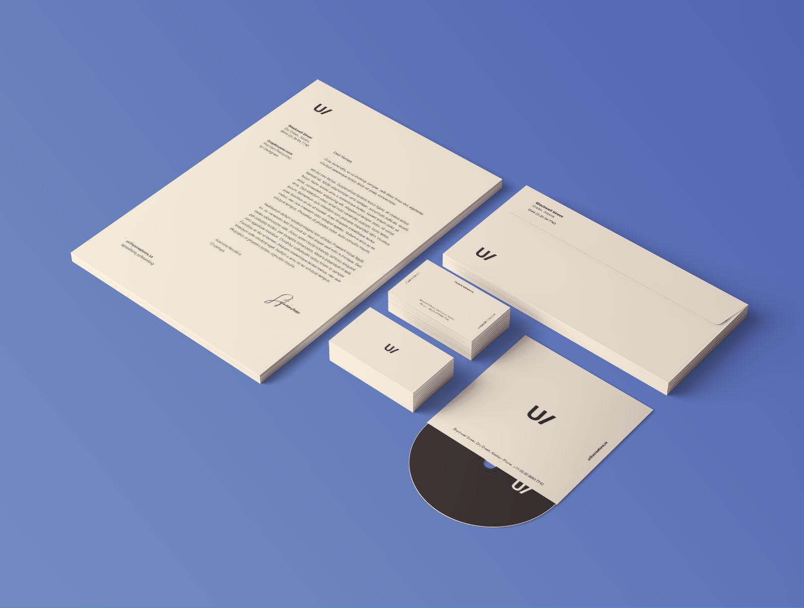 Free Professional Premium Corporate Identity Mockup PSD Set (3)
