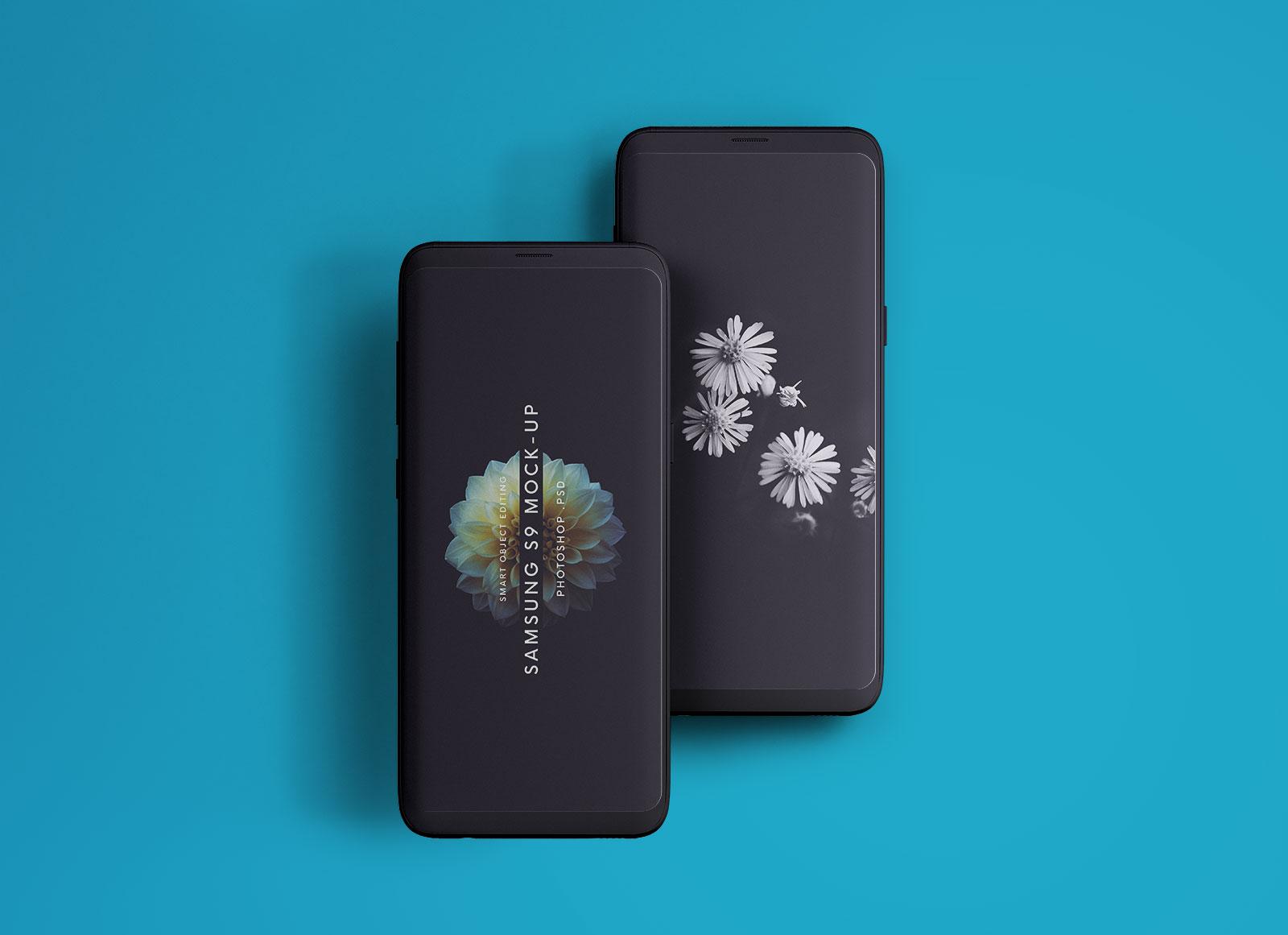 Free-Samsung-Galaxy-S9-Mockup-PSD-2