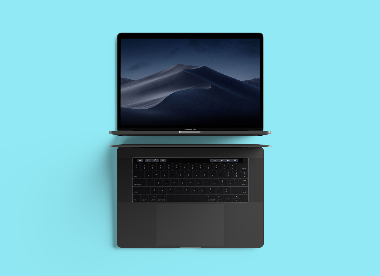 Free-Top-View-MacBook-Pro-Mockup-PSD