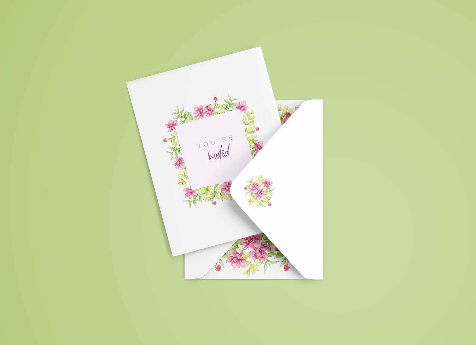 Free simple invitation card mockup psd good mockups free invitation card envelop mockup psd stopboris Images