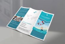 Free High Quality Tri-fold Brochure Mockup PSD Set