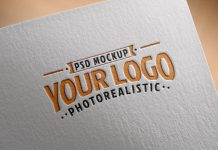Free-Logo-Mockup-PSD-on-Textured-paper