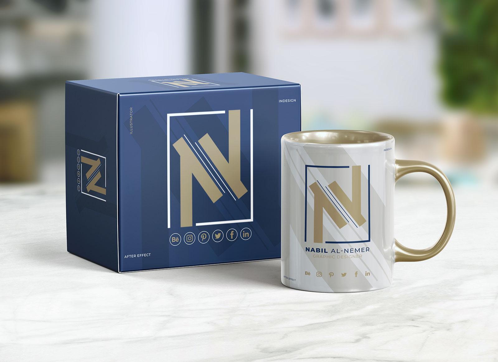 Free-Mug_&-Box-Packaging-Mockup-PSD