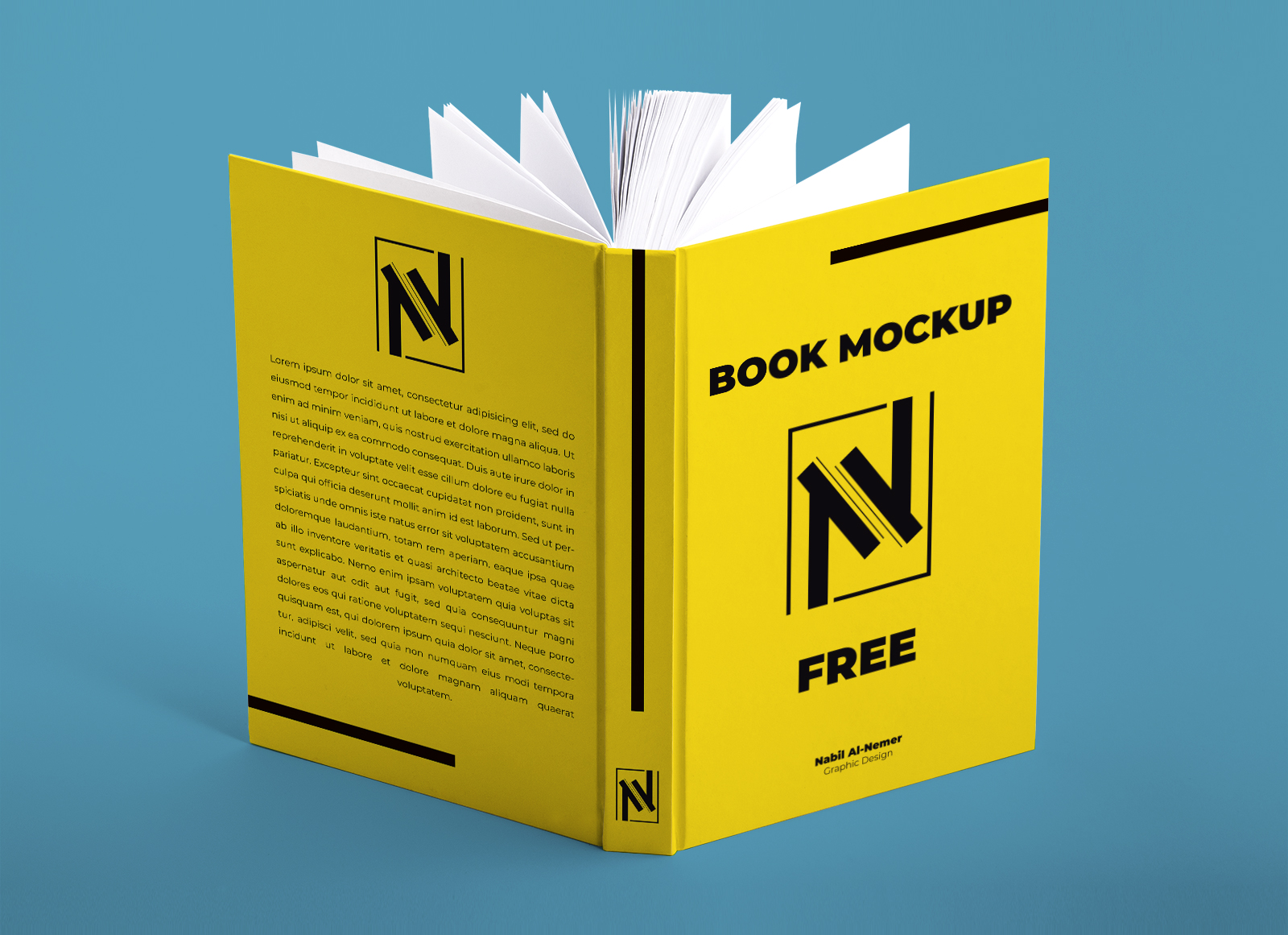 Free Open Hardcover Book Mockup Psd Good Mockups