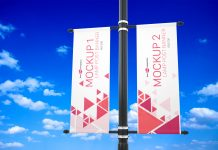 Free-Outdoor-Lamp-Post-Banner-Mockup-PSD