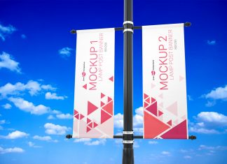 Free-Outdoor-Lamp-Post-Banner-Mockup-PSD